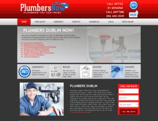 plumbersnow.ie screenshot
