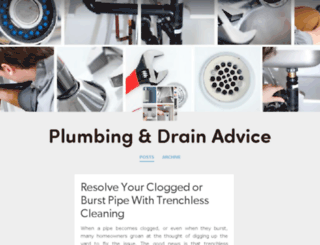 plumbing-drain-advice.tumblr.com screenshot