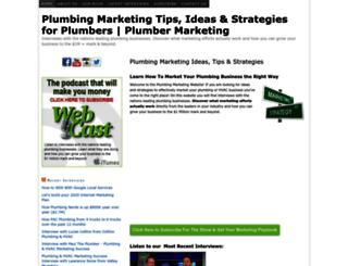 plumbingmarketing.net screenshot
