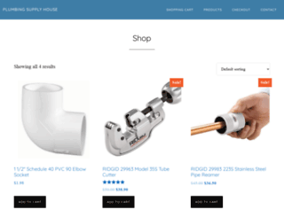 plumbingsupplyhouse.com screenshot