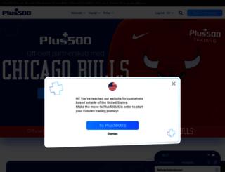plus500.dk screenshot