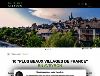 plusbeauxvillagesdefrance-aveyron.com screenshot