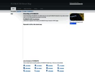 plymouth.streetmapof.co.uk screenshot