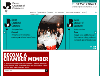 plymouthanddevonchamber.co.uk screenshot