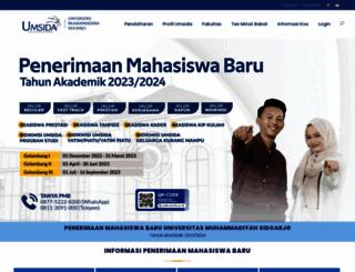 pmb.umsida.ac.id screenshot