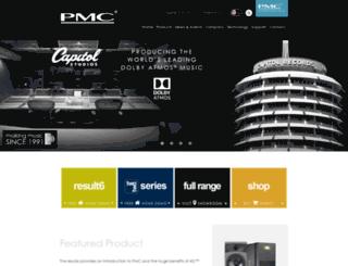 pmc-speakers.com screenshot