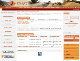 pmgsytendersker.gov.in screenshot