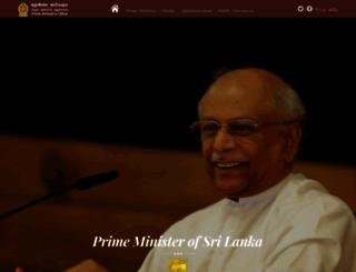 pmoffice.gov.lk screenshot