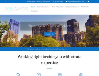 pobilawyers.com.au screenshot