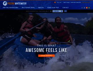 poconowhitewater.com screenshot