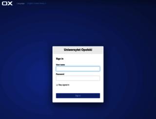 poczta.uni.opole.pl screenshot