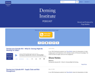 podcast.deming.org screenshot
