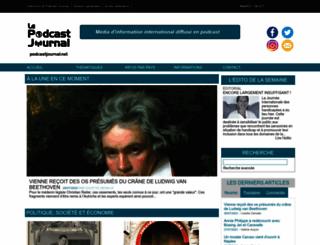 podcastjournal.net screenshot