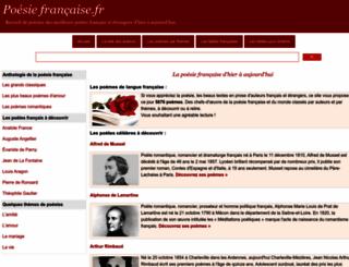 poesie-francaise.fr screenshot