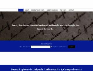 poetryexplorer.net screenshot