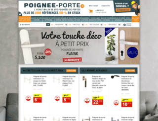 poignee-porte.fr screenshot