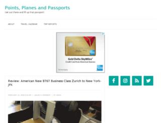 pointsplanesandpassports.com screenshot