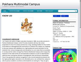 pokharamultimodel.co.nr screenshot