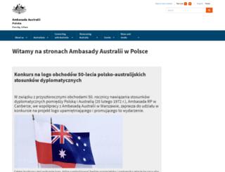 poland.embassy.gov.au screenshot