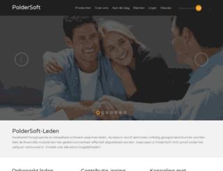 poldersoft.nl screenshot