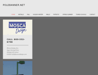 polebanner.moscadesigninc.com screenshot