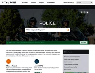 police.cityofboise.org screenshot