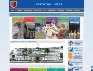 policewb.gov.in screenshot