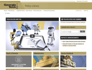 policylibrary.gatech.edu screenshot