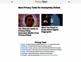policytool.net screenshot