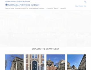polisci.columbia.edu screenshot