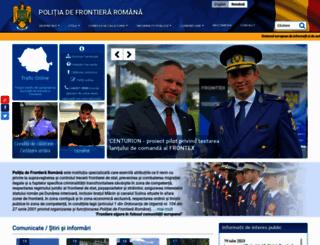 politiadefrontiera.ro screenshot
