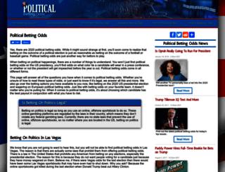politicalbettingodds.com screenshot
