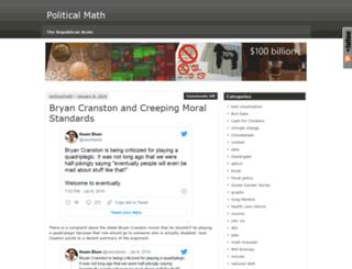 politicalmathblog.com screenshot