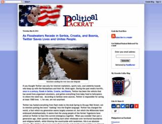 politicalpackrat.blogspot.com screenshot