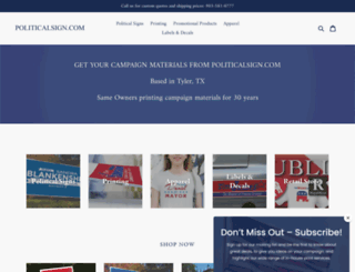 politicalsign.com screenshot