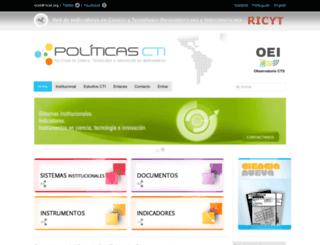 politicascti.net screenshot