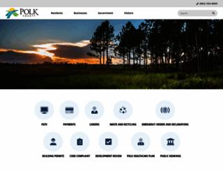 polk-county.net screenshot