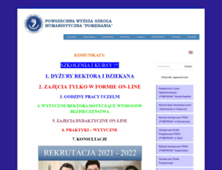 pomeraniachojnice.edu.pl screenshot