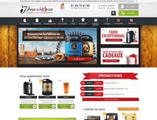 pompe-a-biere.com screenshot