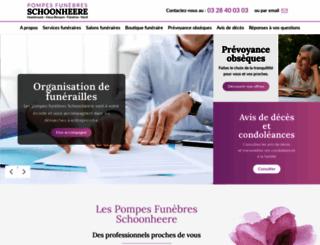 pompes-funebres-schoonheere.com screenshot
