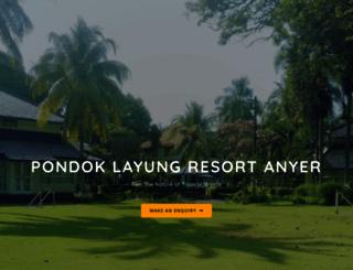 pondoklayungresort.com screenshot