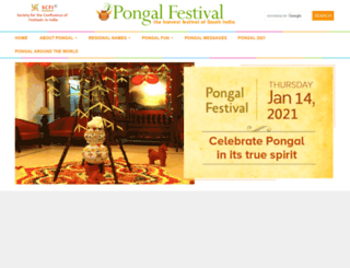 pongalfestival.org screenshot