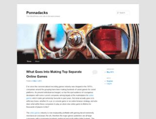 ponnadacks.wordpress.com screenshot