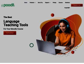 poodll.com screenshot