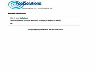 poolforum.com screenshot