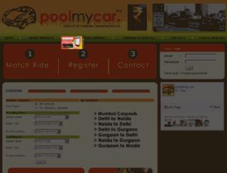 poolmycar.in screenshot