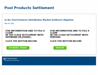 poolproductsconsumerlawsuit.worldsecuresystems.com screenshot