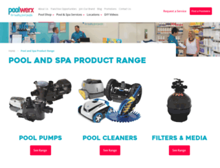 poolshop.poolwerx.com.au screenshot