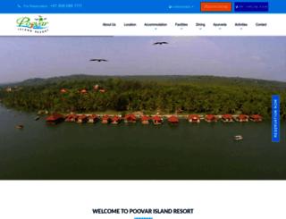 poovarislandresorts.com screenshot