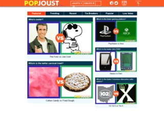popjoust.com screenshot